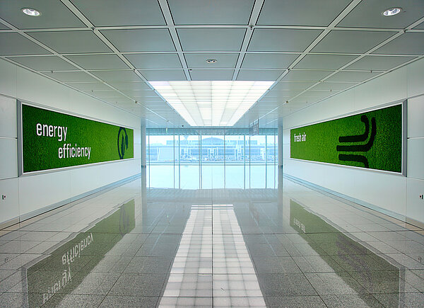 Freund Mooswände Evergreen Premium with motives, Munich Airport