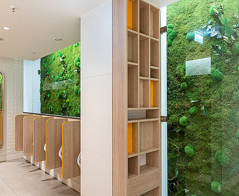 Freund Greenwood Extra Plus, preserved moss wall, maintenance-free, Wandsbek Quaree room, Hamburg
