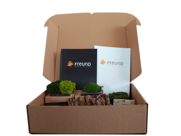 Order your Freund GmbH material sample kit for your professsional interior project!