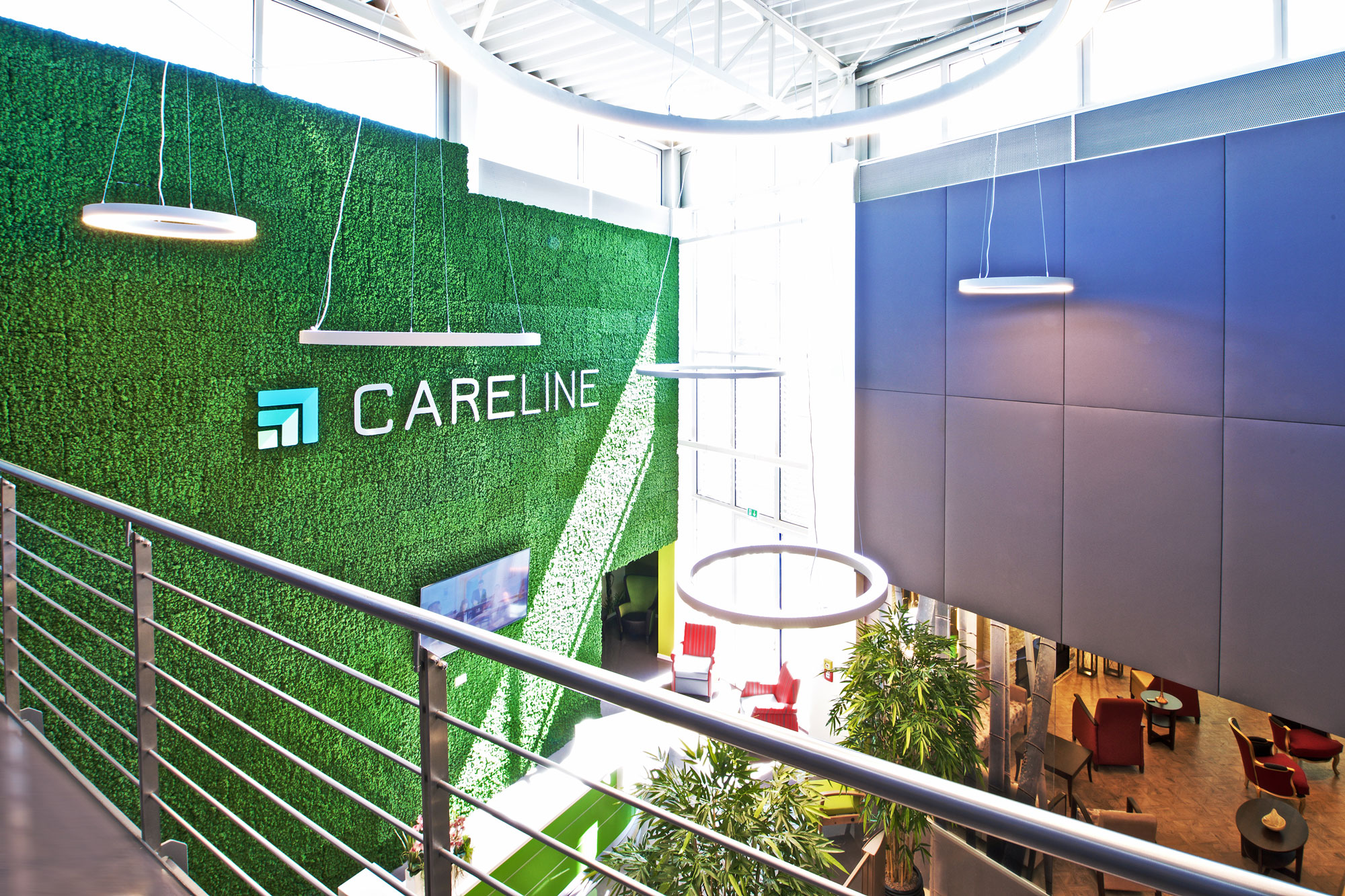 Careline KG maintenance-free office greenery, atrium and office walls, Evergreen Premium, colour: moss green